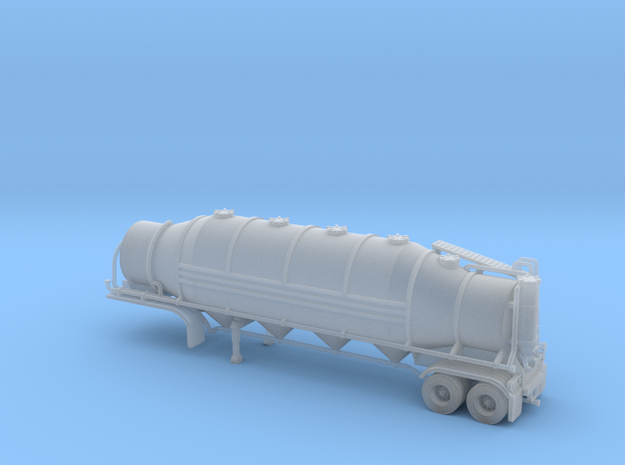HO 1/87 Dry Bulk Trailer 10b - Heil 1625V Superflo 3d printed
