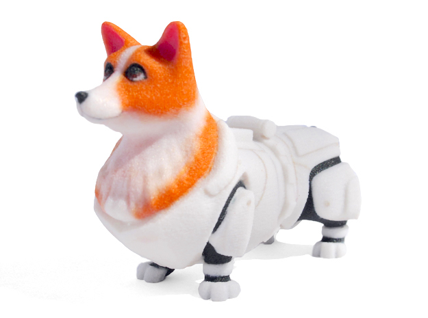 Storm Trooper Corgi in Full Color Sandstone