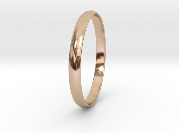 Ring Size 9.5 Design 4 in 14k Rose Gold Plated Brass