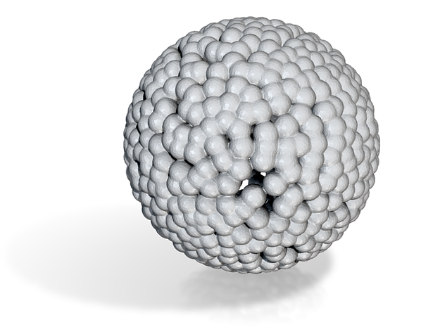 DRAW geo - sphere small balls in White Natural Versatile Plastic