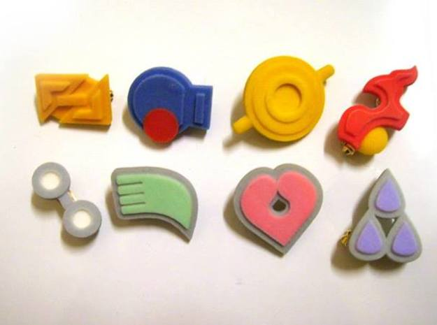Pokemon Gym Badges - Hoenn in Full Color Sandstone