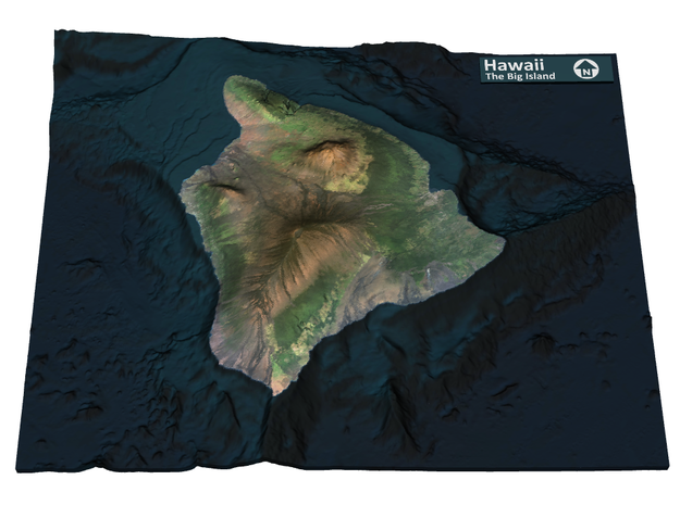 The Big Island Map, Hawaii