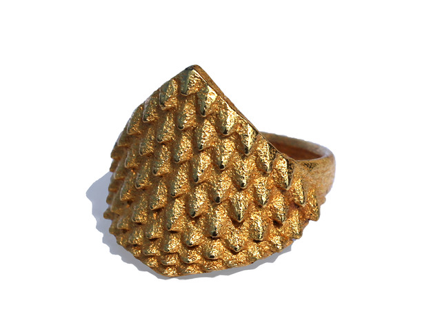 Dragonscales Ring 3d printed