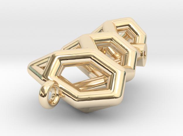 Brosche An 70141-Tubes-komp in 14K Yellow Gold