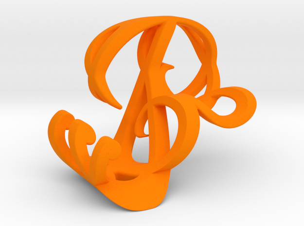 Personalized Signature Perspective Pendant 3d printed