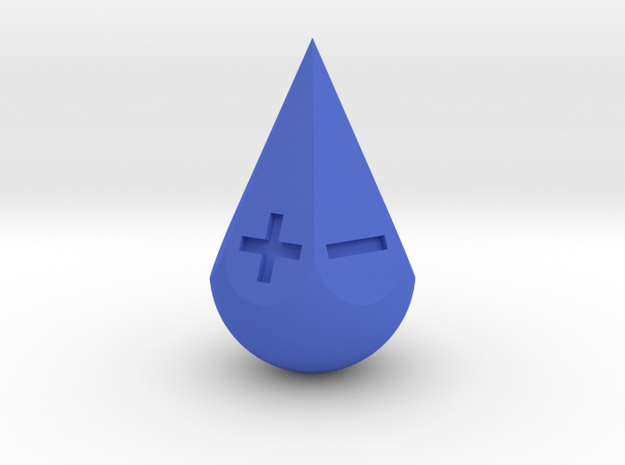 Fudge Teardrop in Blue Processed Versatile Plastic