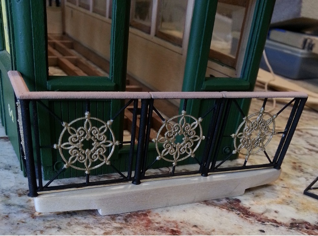 Front Railing for 1:20 scale coach in White Natural Versatile Plastic