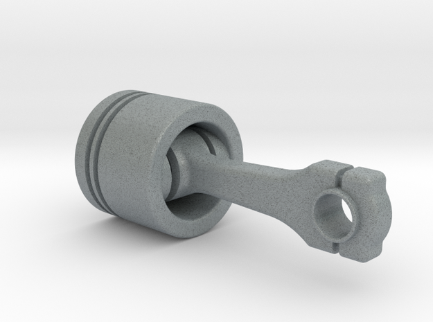 Piston in Polished Metallic Plastic