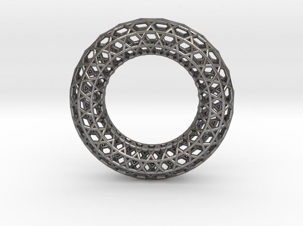 0471 Tilings [3,6,3,6] on Torus in Polished Nickel Steel