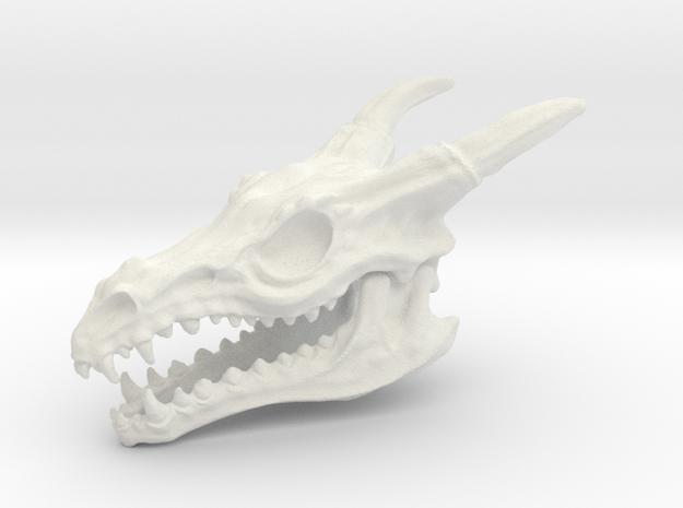 Dragon Skull in White Natural Versatile Plastic