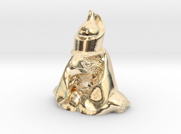 Horus- Ancient Egyptian God in 14K Yellow Gold