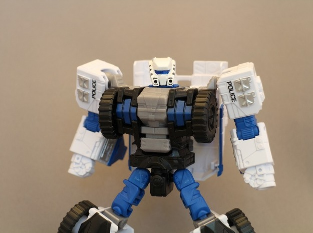 Autorooper Head for Combiner Wars Rook in Frosted Ultra Detail