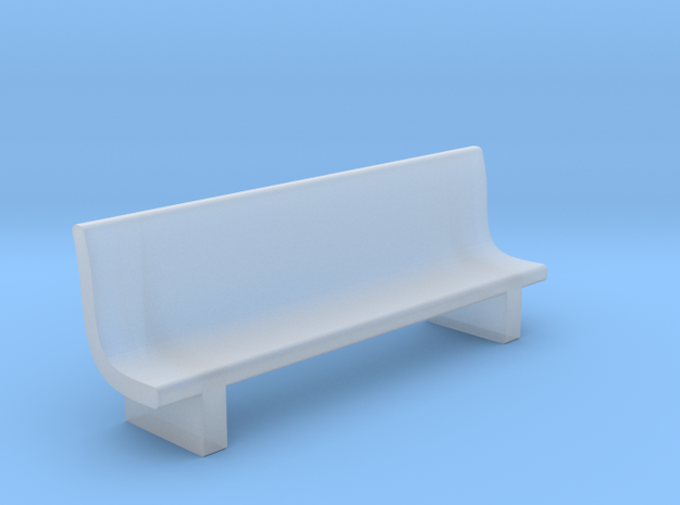 N Scale Bench in Smooth Fine Detail Plastic