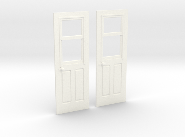 Carter Coach Doors for OR&L 1:20 scale in White Processed Versatile Plastic