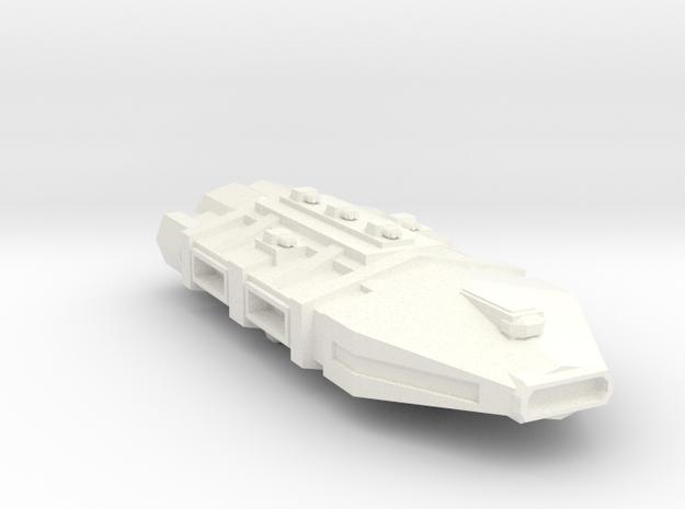 Carrier Battleship Hybrid in White Processed Versatile Plastic