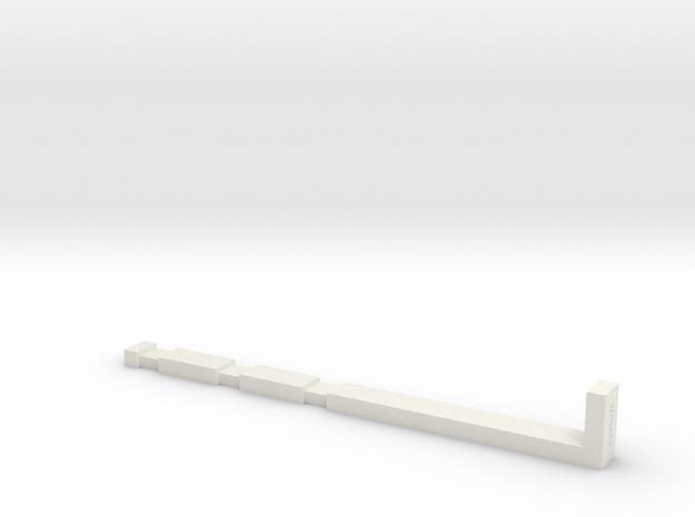 NTrak-Edge-Lay in White Natural Versatile Plastic