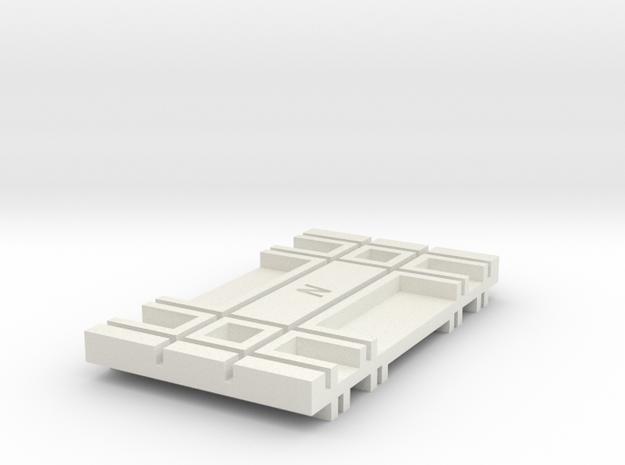 Trak-Spacing-Block-1 in White Natural Versatile Plastic