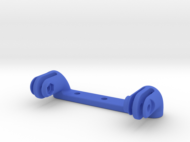 Dual GoPro Rear Rack Mount in Blue Strong & Flexible Polished