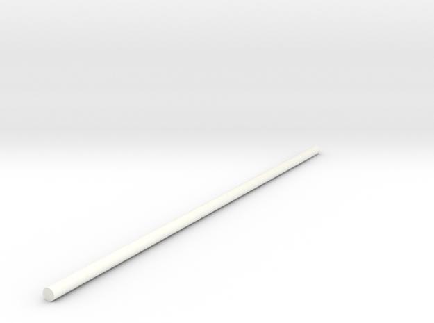 Spoke-STL-File in White Strong & Flexible Polished