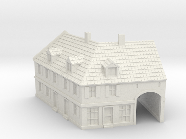 1:285-Corner House 2 in White Strong & Flexible