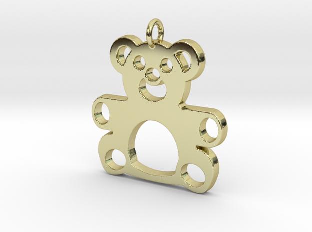Teddy Bear Pendant in 18k Gold Plated Brass