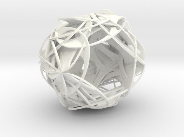 hydrangea lamp01 in White Processed Versatile Plastic