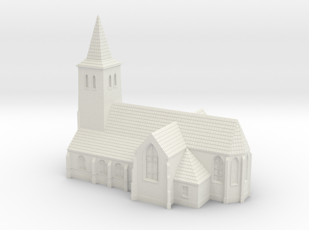 1:285-Church in White Natural Versatile Plastic