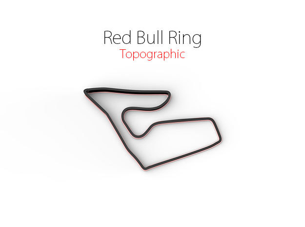 Red Bull Ring | Topographic Small in Full Color Sandstone
