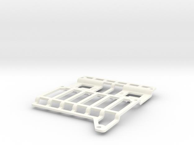 Amiga 3000 HDD Mount in White Processed Versatile Plastic