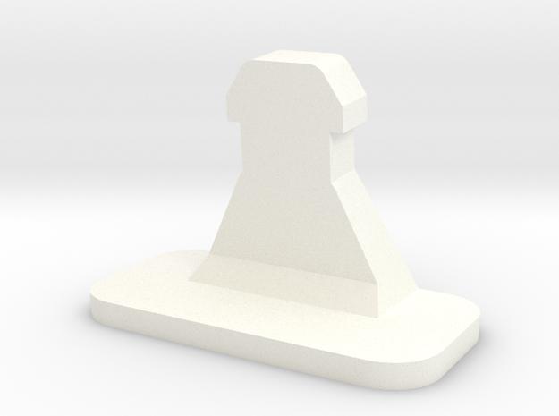 Monitor 1901 cover repair pin in White Processed Versatile Plastic
