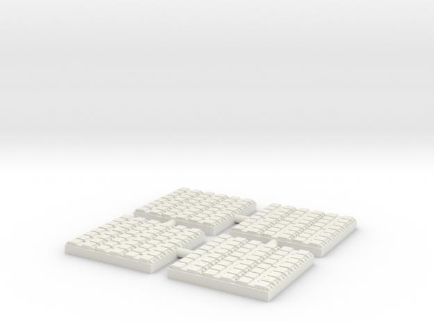 1/500 48 Cell Mk 41 VLS (x4) in White Natural Versatile Plastic