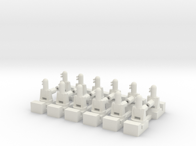 1/500 Phalanx CIWS (x12) in White Natural Versatile Plastic
