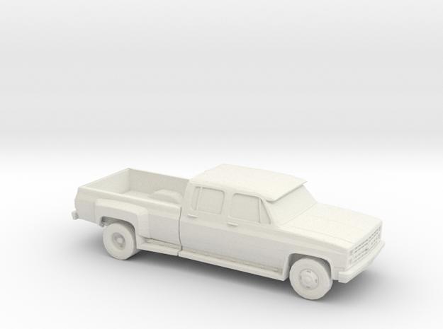 1/87 1989 Chevrolet Silverado Dually in White Natural Versatile Plastic