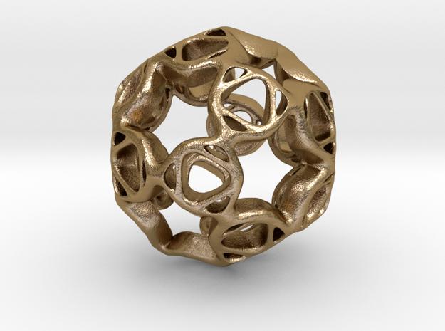 Pendant framework star in Polished Gold Steel