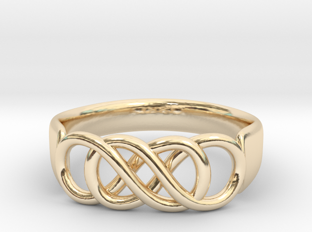 Double Infinity Ring 14.1 mm Size 3