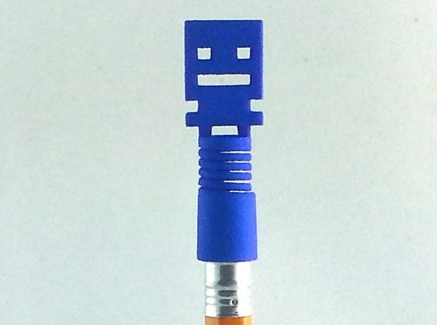Turbo Buddy Spring Pencil Topper in Blue Processed Versatile Plastic