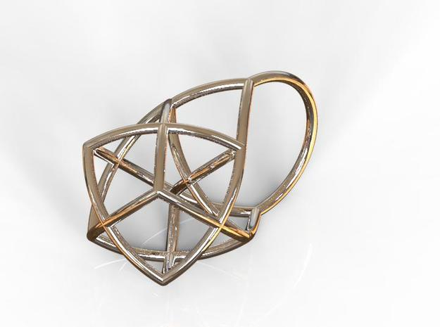 TETRAHEDRON STAR, Ring Nº1 in Matte Black Steel