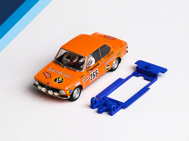 1/32 Chassis for Spirit BMW 2002 for Slot.it pod in White Natural Versatile Plastic