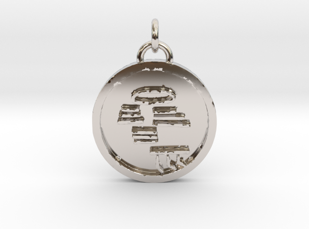 S25N3- To reset the self or the situation in Rhodium Plated Brass
