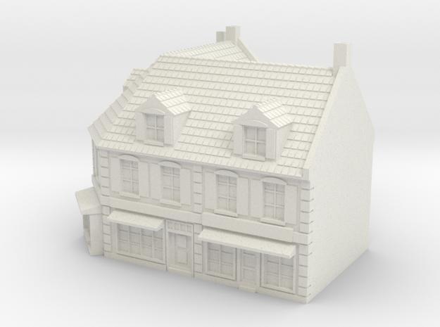 1:350 Corner House 1 in White Natural Versatile Plastic