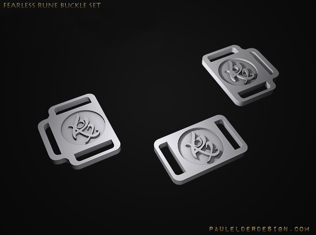 TMI Rune Side Buckles Set 3d printed To purchase belt buckle see below :)
