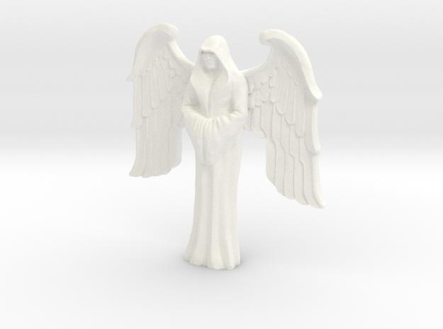 Imperial Saint, winged in White Processed Versatile Plastic