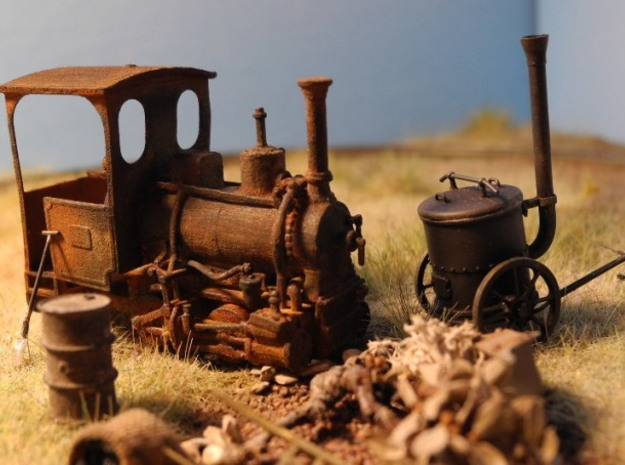 Max Orenstein No. 173 1:45 16,5mm 3d printed Max Orenstein No. 173 as old rusty beauty