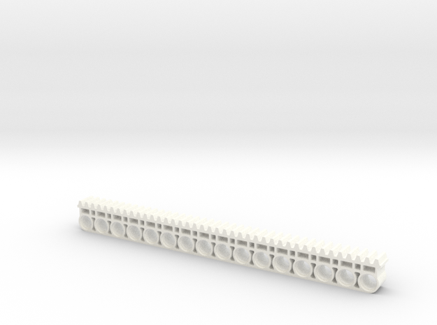 Liftarm 1x16 With Gear Rack in White Strong & Flexible Polished