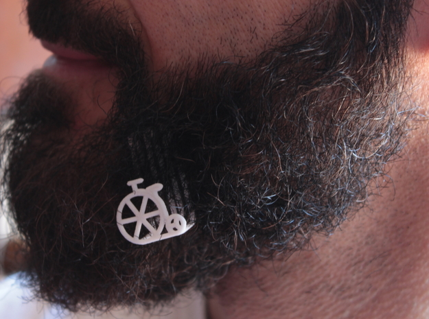 Old bike for beard - lateral wearing in White Natural Versatile Plastic