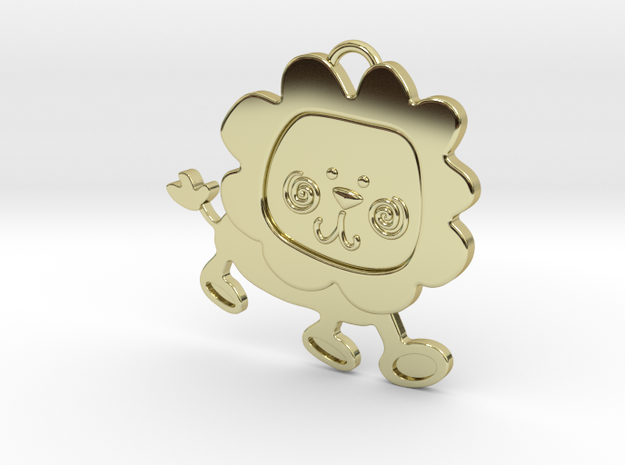 Lion Pendant in 18k Gold Plated Brass