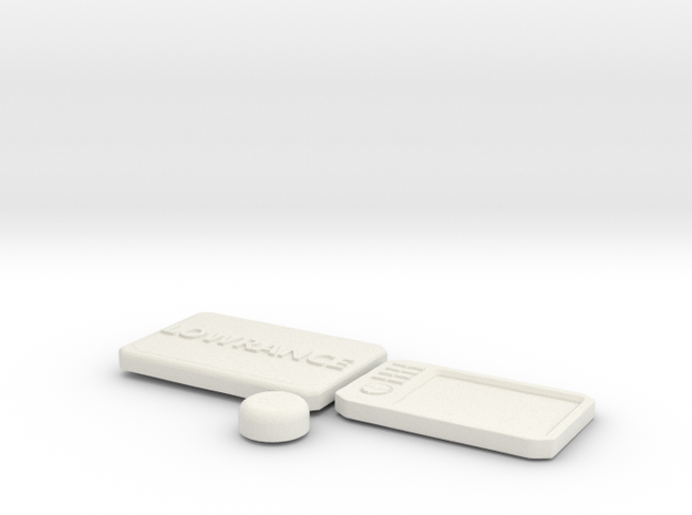 Scale GPS System in White Natural Versatile Plastic