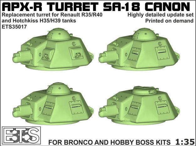 ETS35017 - APX-R turret with SA18 gun [1:35] in Frosted Ultra Detail