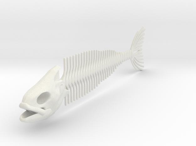 "FISH SKELETON 12"" in White Natural Versatile Plastic"