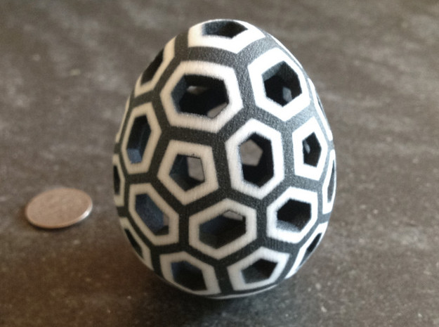 Mosaic Egg #1 in Full Color Sandstone